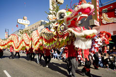 Chinese New Year Parade Dragon 10 Royalty Free Stock Photos