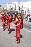 Chinese New Year Parade Martial Artist Row Royalty Free Stock Images