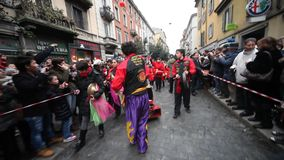 Chinese New Year parade in Milan 2014 stock footage