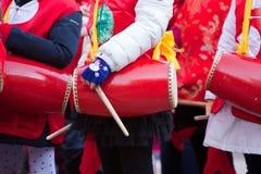 Chinese New Year parade in Milan Stock Image