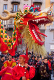 Chinese New Year parade in Milan Stock Image