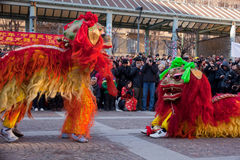Chinese New Year parade in Milan Royalty Free Stock Images