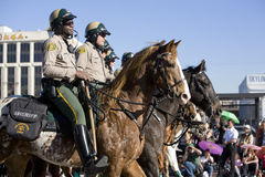 Chinese New Year Parade Mounted Police 3 Royalty Free Stock Photos