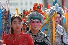Chinese new year parade, in Paris, France Royalty Free Stock Photo