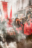 Chinese new year parade in Paris Royalty Free Stock Images
