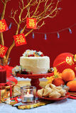 Chinese New Year party table Royalty Free Stock Photos