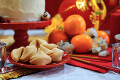 Chinese New Year party table Royalty Free Stock Images