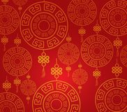 Chinese new year pattern background Stock Images