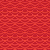 Chinese New Year pattern. Chinese festive wavy ornamental background. Asian traditional seamless pattern with traditional waves element ornament. Vector Royalty Free Stock Images