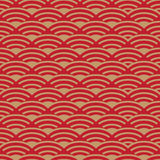 Chinese New Year wavy red pattern Stock Photo
