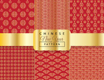 Chinese New Year pattern Stock Images