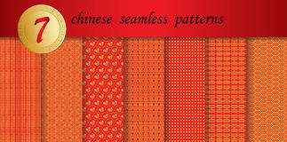 Chinese new year patterns Royalty Free Stock Images
