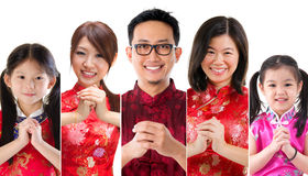 Chinese new year people Stock Photos