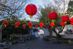 Chinese New Year. Portland, OR USA - March, 4 2015. Chinese New Year celebrations are held every year in Portland Chinese Garden