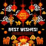 Chinese New Year poster of oriental knot ornament Royalty Free Stock Image