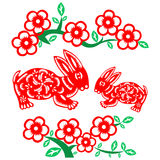 Chinese New Year rabbit Stock Image
