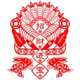 Chinese New Year rabbit Royalty Free Stock Image