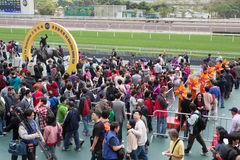 Chinese New Year Raceday in Hong Kong Stock Photography