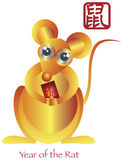 Chinese New Year of the Rat Zodiac stock illustration