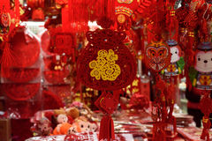 Chinese new year red decorations Royalty Free Stock Images