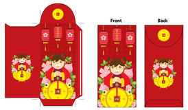 Chinese new year red envelope design Stock Images