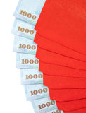 Chinese New Year Red Envelopes with Taiwanese Currency Royalty Free Stock Photography