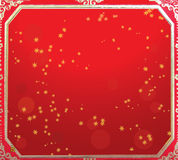 Chinese new year red and gold background Stock Photography