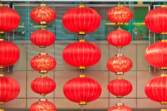 Chinese New Year red lanterns Stock Photos
