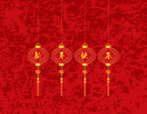 Chinese New Year Red Lanterns Illustration Stock Image