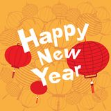 Chinese new year with red lanterns. Suitable for greeting cards Royalty Free Stock Photo