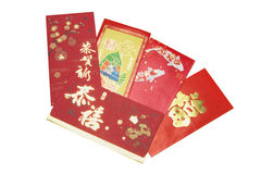 Chinese New Year Red Packets. On White Background Stock Image