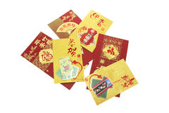 Chinese New Year Red Packets. On White Background Stock Photos