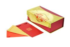 Chinese new year red packets and gift box Stock Photo