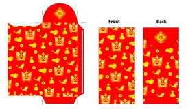 Chinese new year red pocket design Royalty Free Stock Images