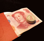 Chinese new year red pocket for Goat year Royalty Free Stock Photos