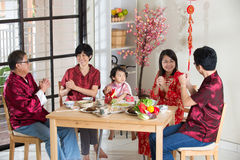 Chinese new year reunion dinner Royalty Free Stock Image