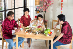 Chinese new year reunion dinner Royalty Free Stock Images