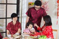Chinese new year reunion dinner Stock Photo