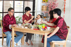 Chinese new year reunion dinner Stock Image