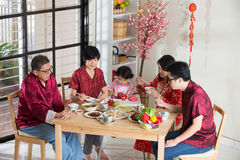 Chinese new year reunion dinner Stock Images