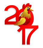 Chinese New Year 2017 with Rooster Royalty Free Stock Photo
