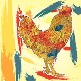 2017 Chinese New Year of the Rooster. Beautiful colorful, bright rooster. Vector. Illustration Stock Images
