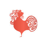 Chinese New Year 2017 rooster design. - Symbol of New Year 2017. Rooster isolated on white. Chinese New Year 2017 rooster design. - Symbol of New Year 2017 royalty free illustration