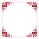 Chinese New Year Rooster Frame Royalty Free Stock Photos
