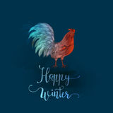 Chinese New Year of the Rooster. Royalty Free Stock Photography