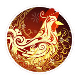 Rooster as symbol of 2017 by Chinese zodiac Stock Photos