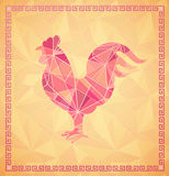Chinese New Year 2017 Rooster horoscope symbol Stock Photos