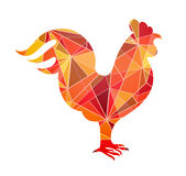 Chinese New Year 2017 Rooster horoscope symbol. Rooster shape as design element. Sign for 2017 year by Chinese zodiac Stock Images