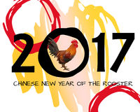 Chinese New Year of Rooster 2017 Poster. Eps 10 Stock Photos