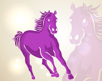 Chinese New Year 2014 running horse. Chinese New Year 2014. Running pink horse over contemporary lights background. EPS10 vector file with transparency layers Stock Images